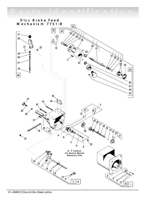 Ammco Brake Lathe Diagram